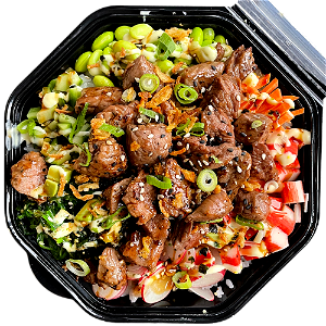 Foto Pokébowl Black Pepper Beef